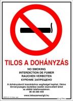 """Dekor Matrica """"D"""" Tilos a dohányzás"""