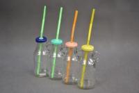 Szívószálas üvegek