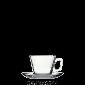 Vela Kapucsínós csésze+ alj 6db-os készlet (üveg)