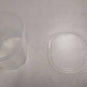 Műanyag Ovális natúr alj 750 ml