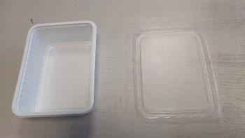 Műanyag Szögletes fehér alj 750 ml